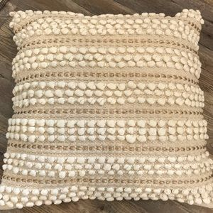 Gold and cream boho style pillows